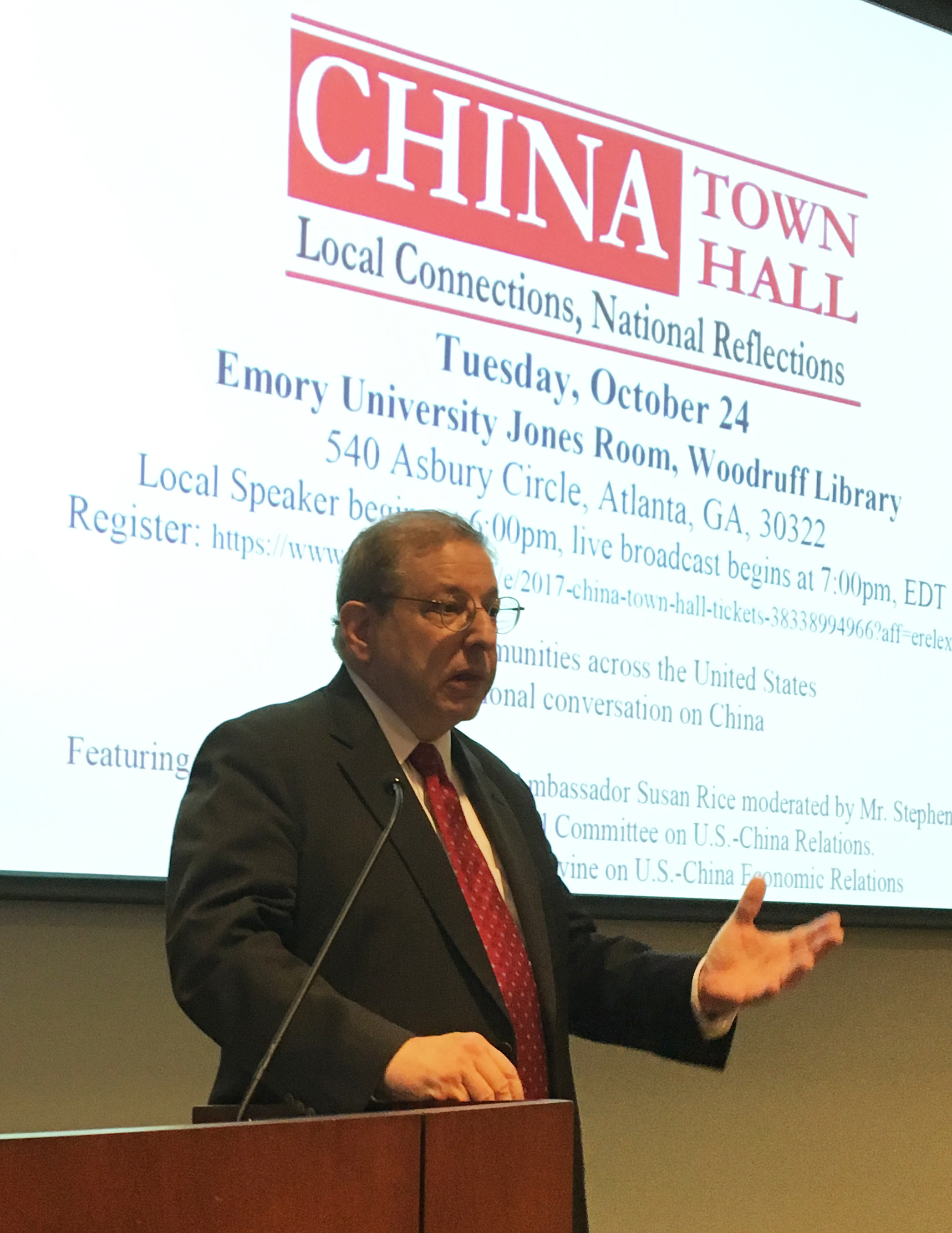 CRC Co-sponsors China Town Hall