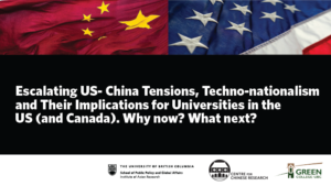 Escalating US-China Tensions, Techno-nationalism & Their Implications for Universities in the U.S. (and Canada). Why now? What next?